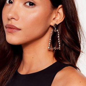 Nasty Gal-Don't Come Knocking-drop earrings-Gold